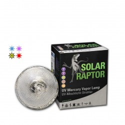 Bombilla de vapor de mercurio Solar Raptor UVA UVB para reptiles y aves