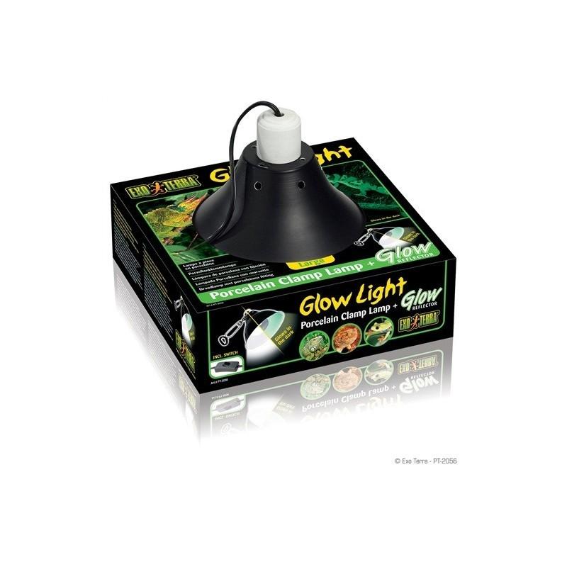 Pantalla portalámparas Glow light de Exoterra para reptiles en terrario, tortugueras, acuaterrarios, aves y mamíferos